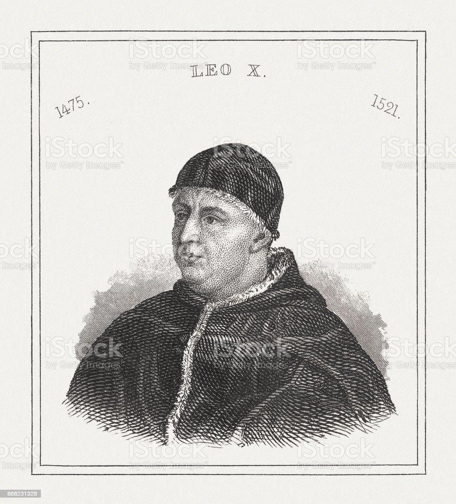 1843 年に教皇レオ X 鋼彫刻公開...