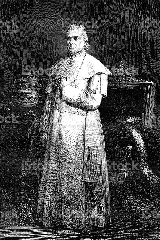Pope Pius IX vector art illustration