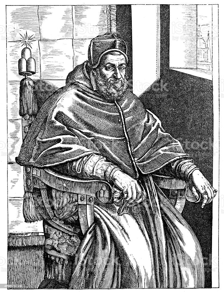 Pope Sixtus V royalty-free stock vector art