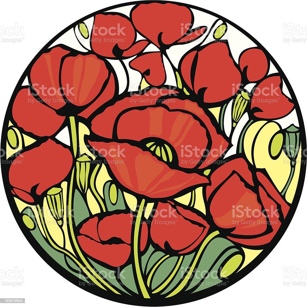 Poppies. royalty-free stock vector art