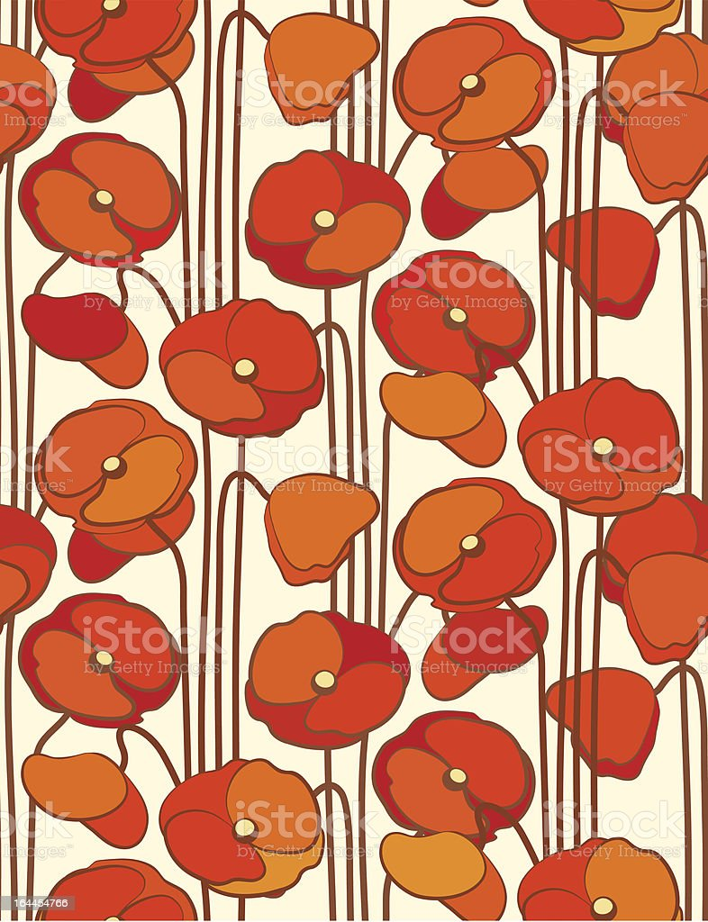 Poppies. Seamless floral background.