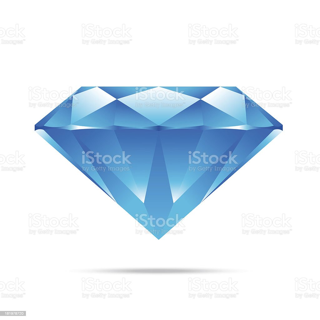 popular blue diamond isolated realistic high quality elements ve royalty-free stock vector art