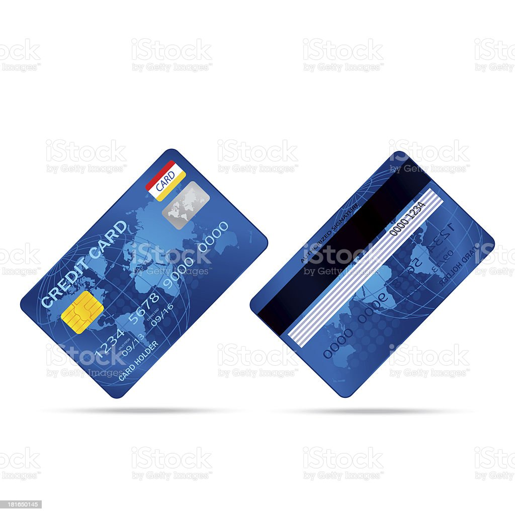 popular blue premium extended business credit card isolated vect royalty-free popular blue premium extended business credit card isolated vect stock vector art & more images of banking