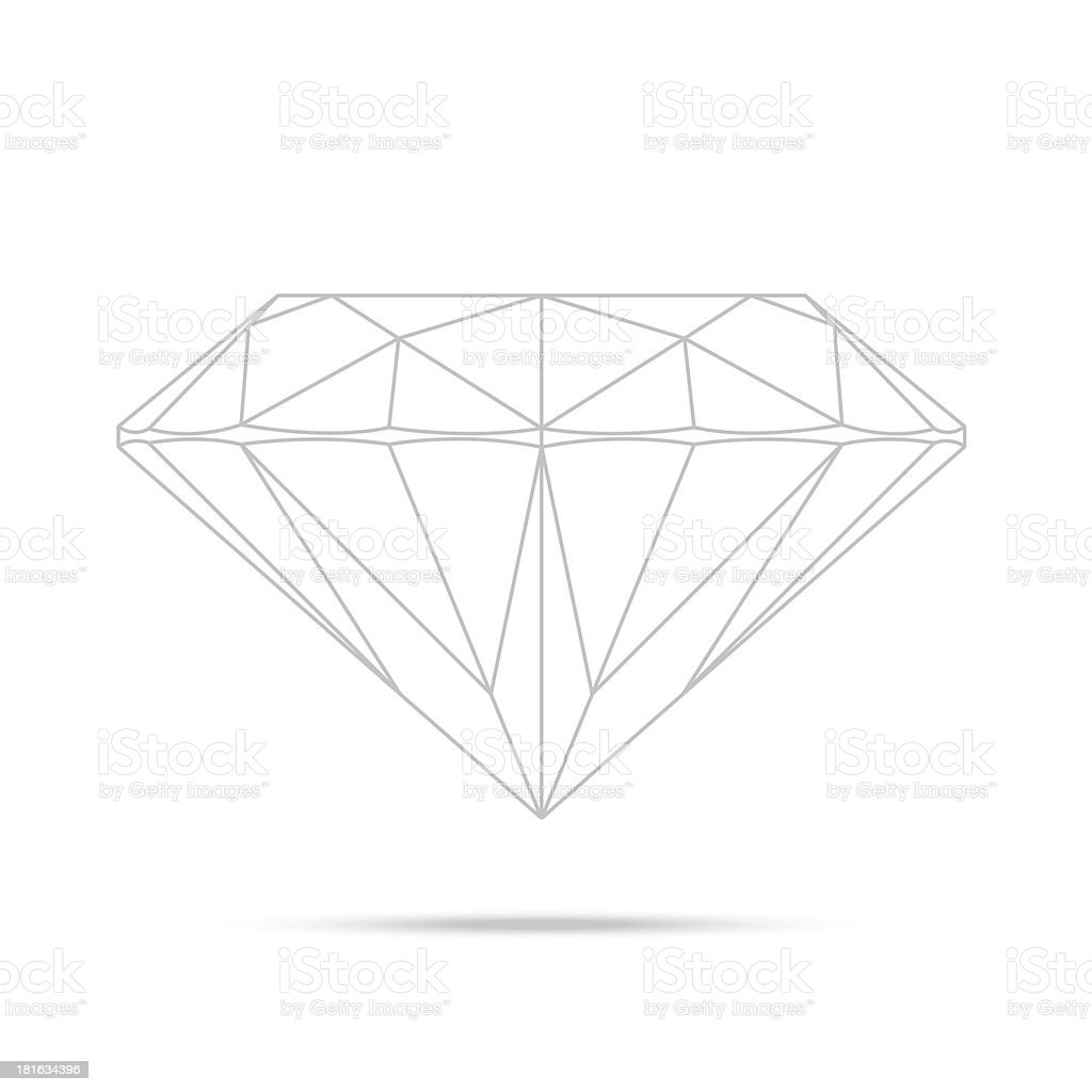 popular drawing line template diamond isolated realistic high qu royalty-free stock vector art