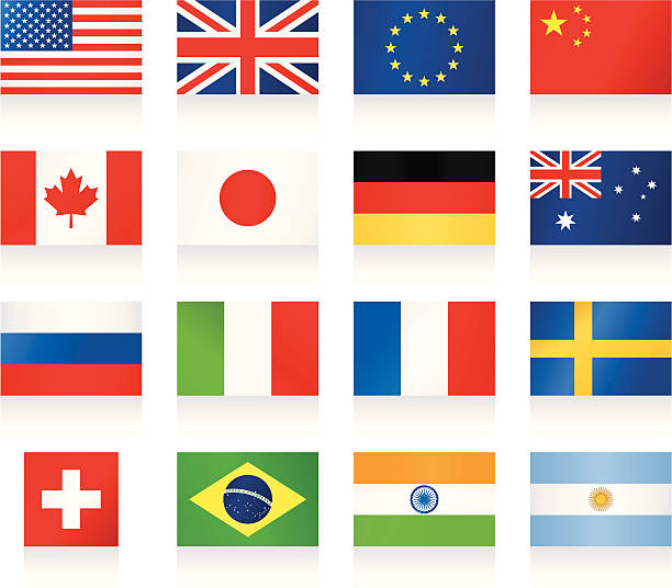 popular flags - union jack flag stock illustrations, clip art, cartoons, & icons
