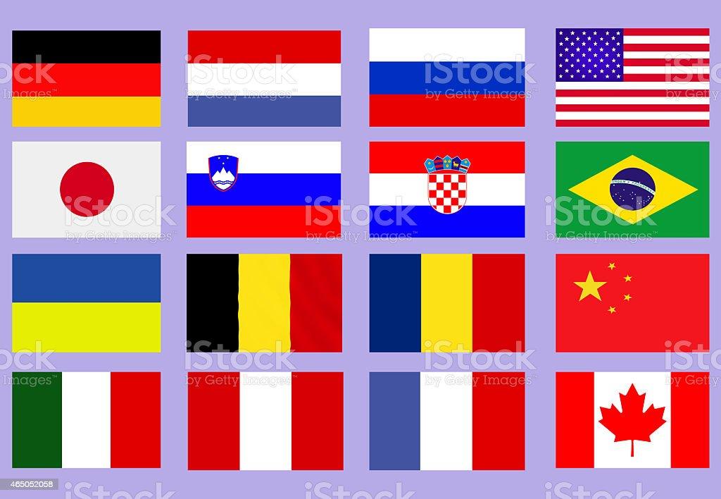 人気の旗 ベクターアートイラスト