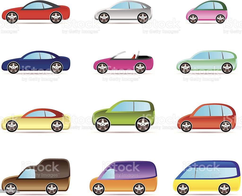 Popular types of cars royalty-free stock vector art