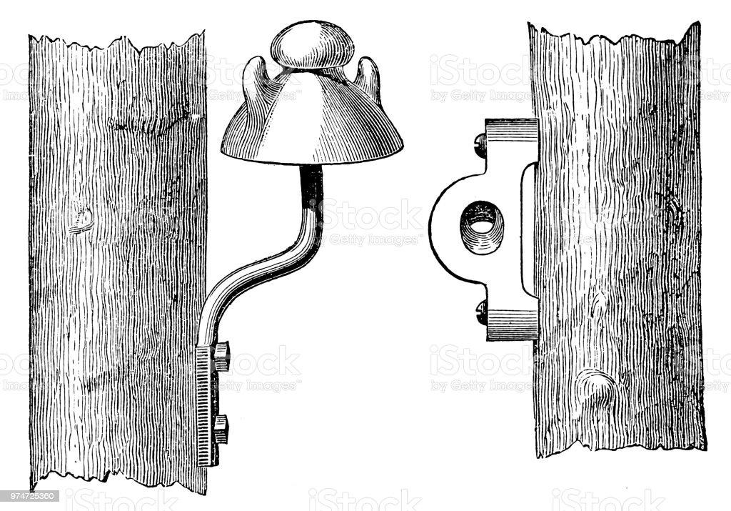 Ilustración de Aislamiento De Porcelana Para Poste De La ...