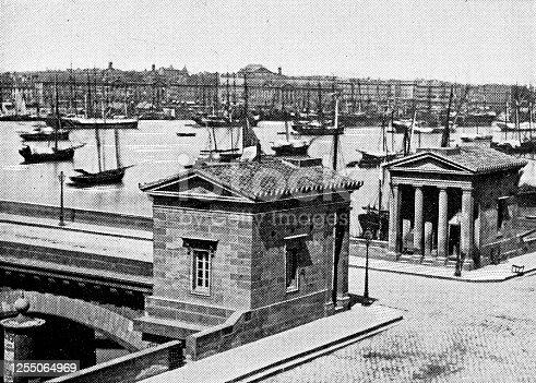 istock Port de la Lune in Bordeaux, France - 19th Century 1255064969