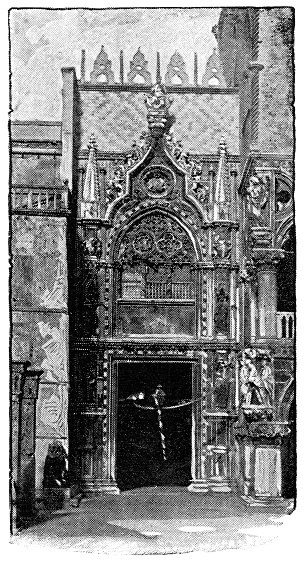 Porta della Carta Gate at Palazzo Ducale in Venice, Italy - 19th Century