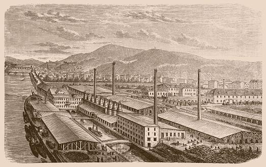 Portland-Cement-Werk , 19th century, Heidelberg, Germany,