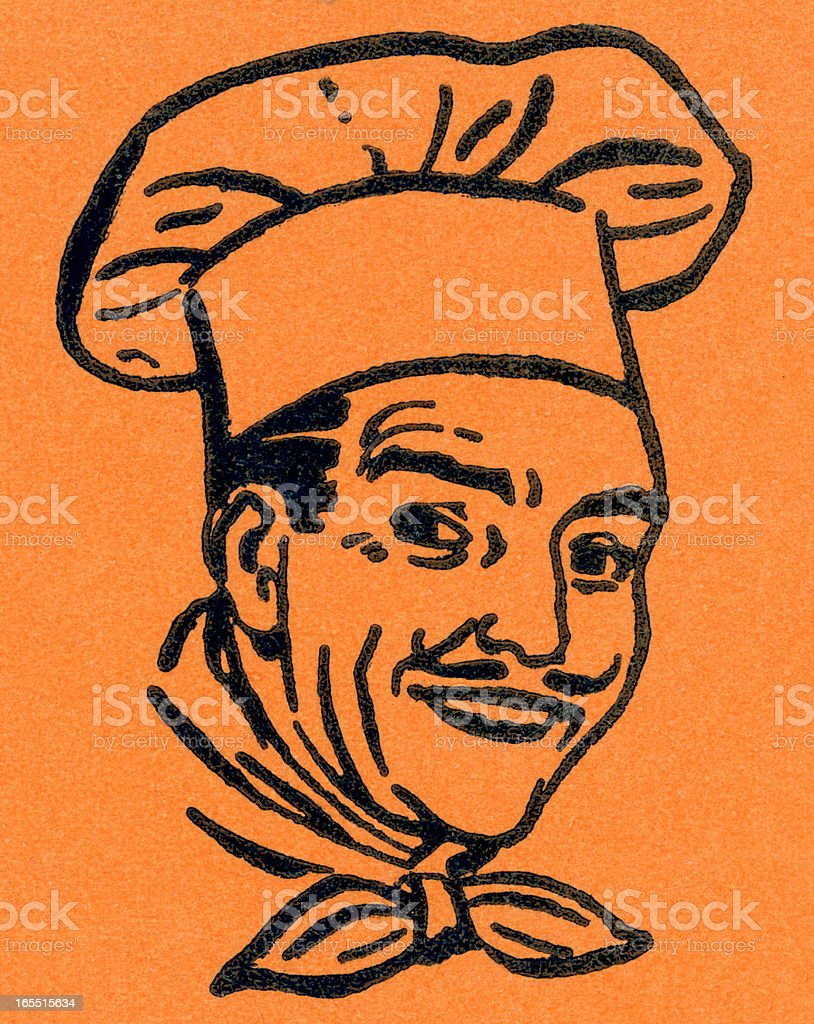 Portrait of a Chef royalty-free stock vector art