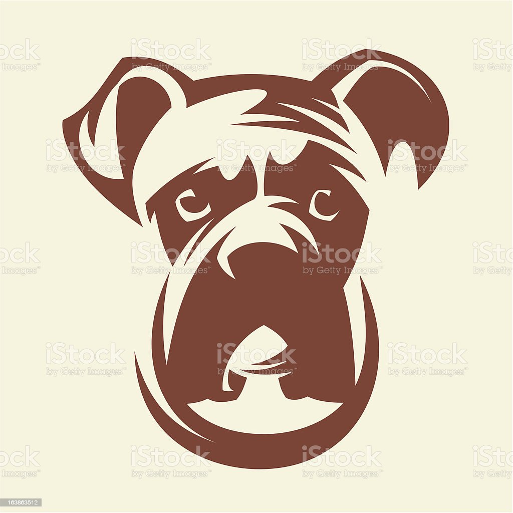 boxer dog clip art, vector images & illustrations - istock