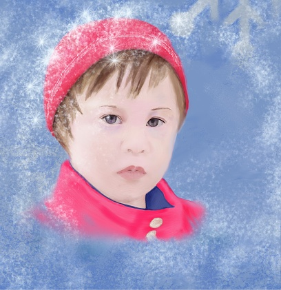 Portrait of a girl with special needs