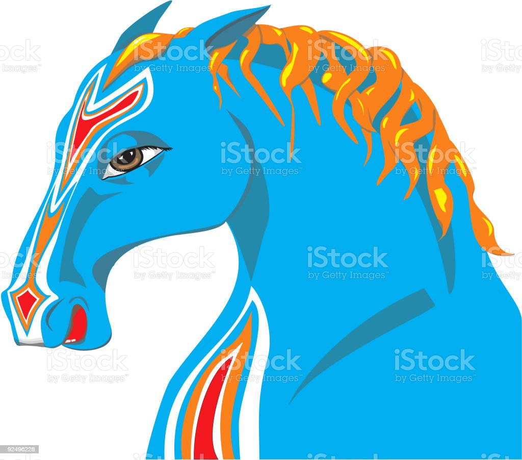 Portrait of a Horse royalty-free portrait of a horse stock vector art & more images of animal