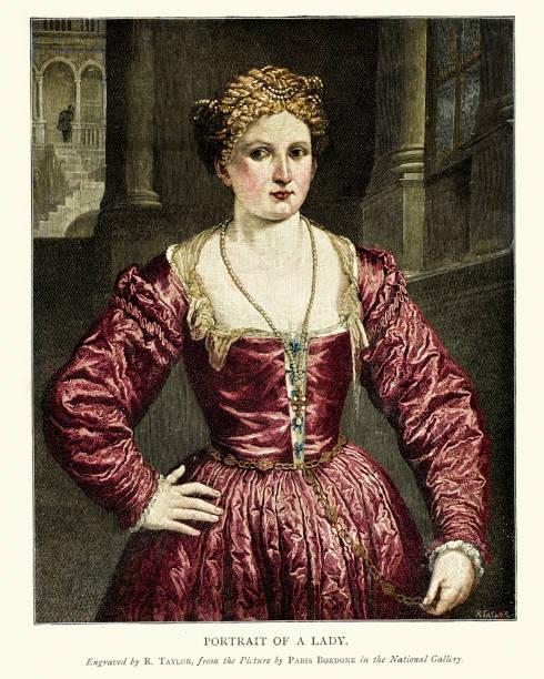女性、パリボルドネ、16 世紀の肖像画 - ポートレート点のイラスト素材/クリップアート素材/マンガ素材/アイコン素材