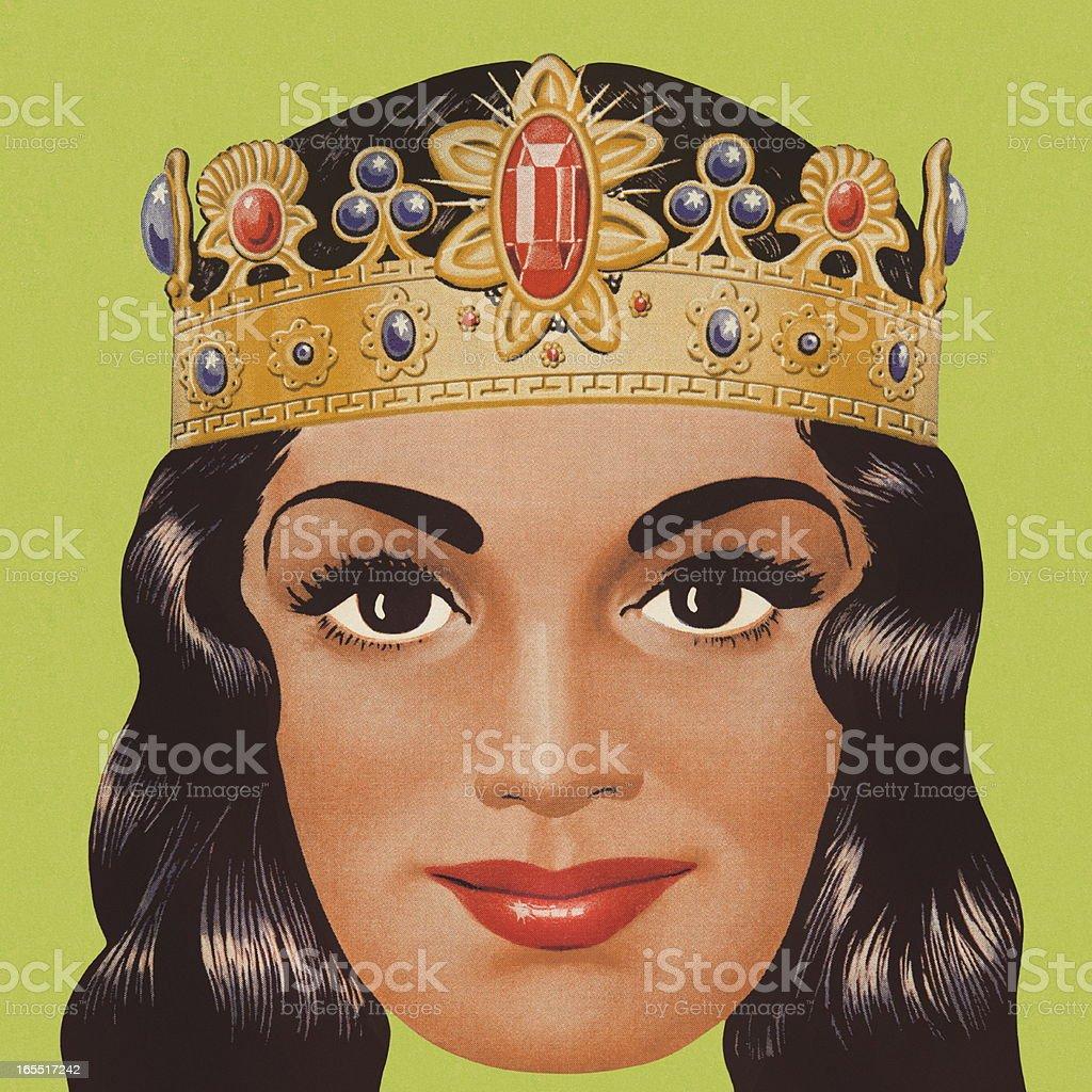 Portrait of a Queen royalty-free stock vector art