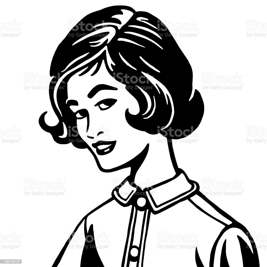Portrait of a Woman vector art illustration
