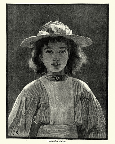 Portrait of a young Victorian girl, 19th Century