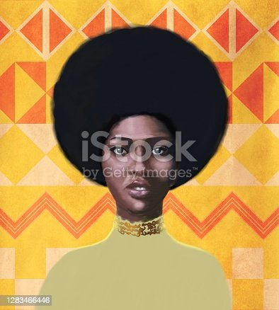 istock Portrait of a young woman  of African type Falashi 1283466446
