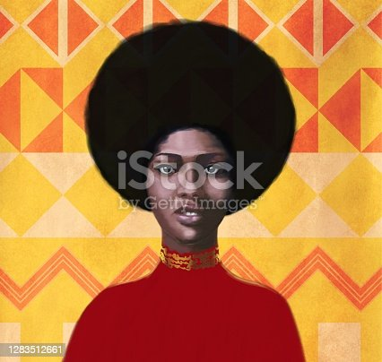 istock Portrait of a young woman  of African type Falashi 1283512661