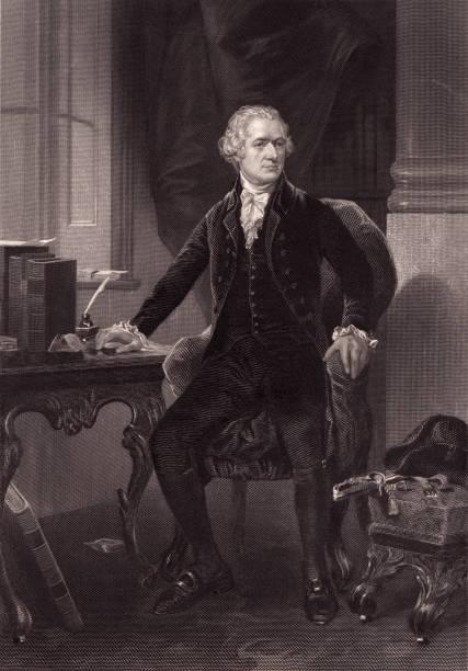 Portrait of Alexander Hamilton vector art illustration