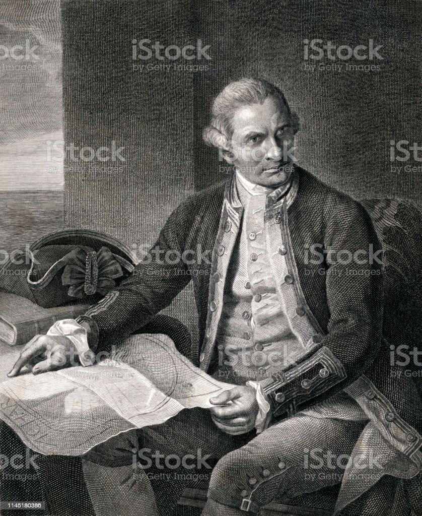 キャプテンジェームズクックの肖像画 - 18世紀のベクターアート素材や ...