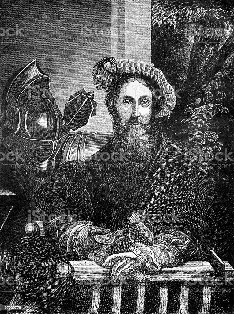 Portrait of Christopher Columbus by Parmigianino royalty-free portrait of christopher columbus by parmigianino stock vector art & more images of adult