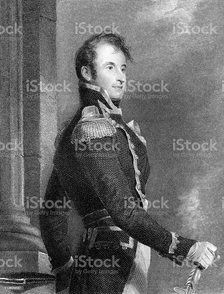 Portrait of Commodore Stephen Decatur, U.S. Navy royalty-free stock vector art