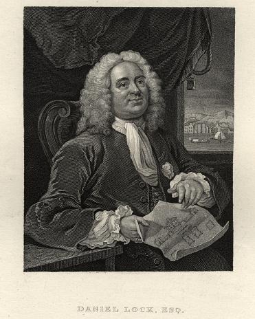Portrait of Daniel Lock Esq, Architect and artist, by William Hogarth