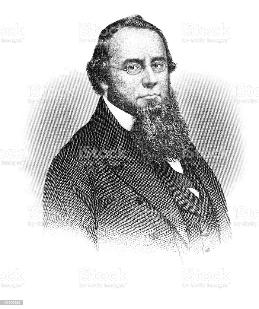 Portrait of Edwin Stanton, 1864 royalty-free portrait of edwin stanton 1864 stock vector art & more images of 1864