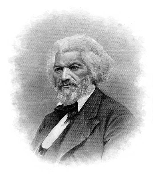 Portrait of Frederick Douglass  civil rights stock illustrations