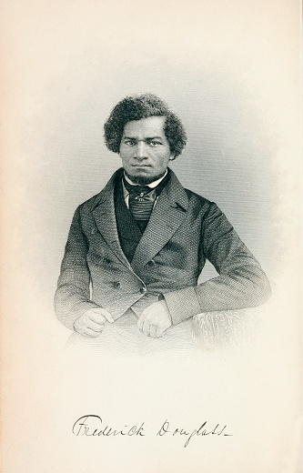 Vintage portrait of Frederick Douglass (1818-1895), an American social reformer, abolitionist, orator, writer, and statesman. After escaping from slavery in Maryland in 1838, he became a national leader of the abolitionist movement in Massachusetts and New York.