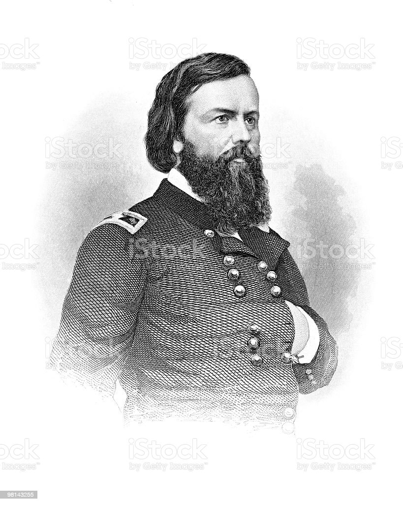 Portrait of General John Pope, 1864 royalty-free portrait of general john pope 1864 stock vector art & more images of 19th century style