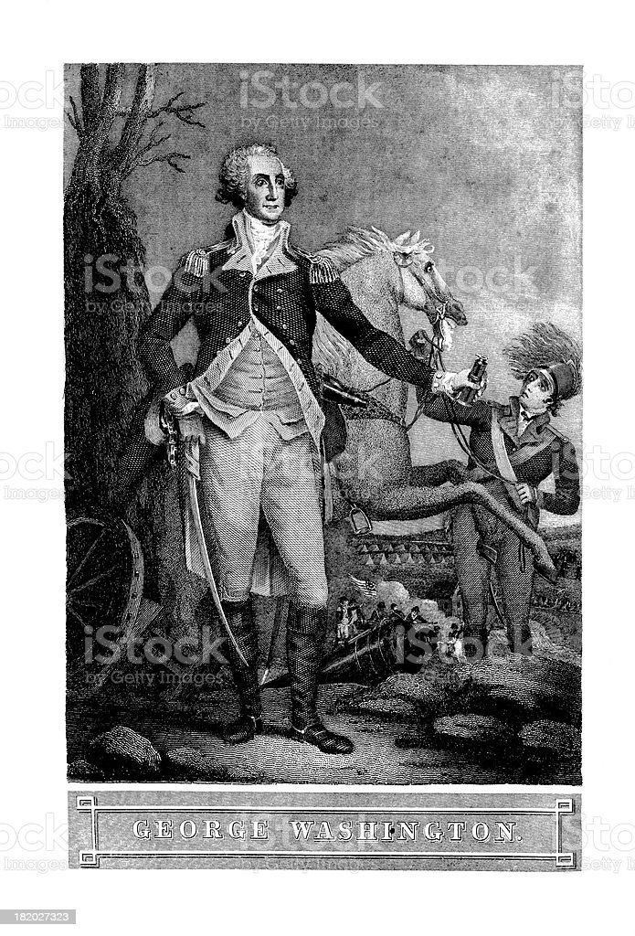 Portrait of George Washington, First US President |Historic American Illustrations royalty-free portrait of george washington first us president historic american illustrations stock vector art & more images of 19th century