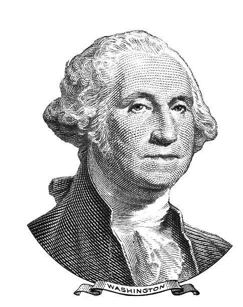 Portrait of George Washington vector art illustration