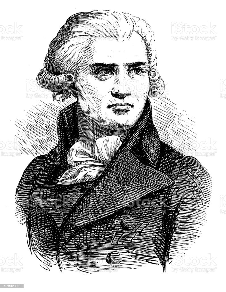 Georges Danton portrait of georges danton french revolutionary stock