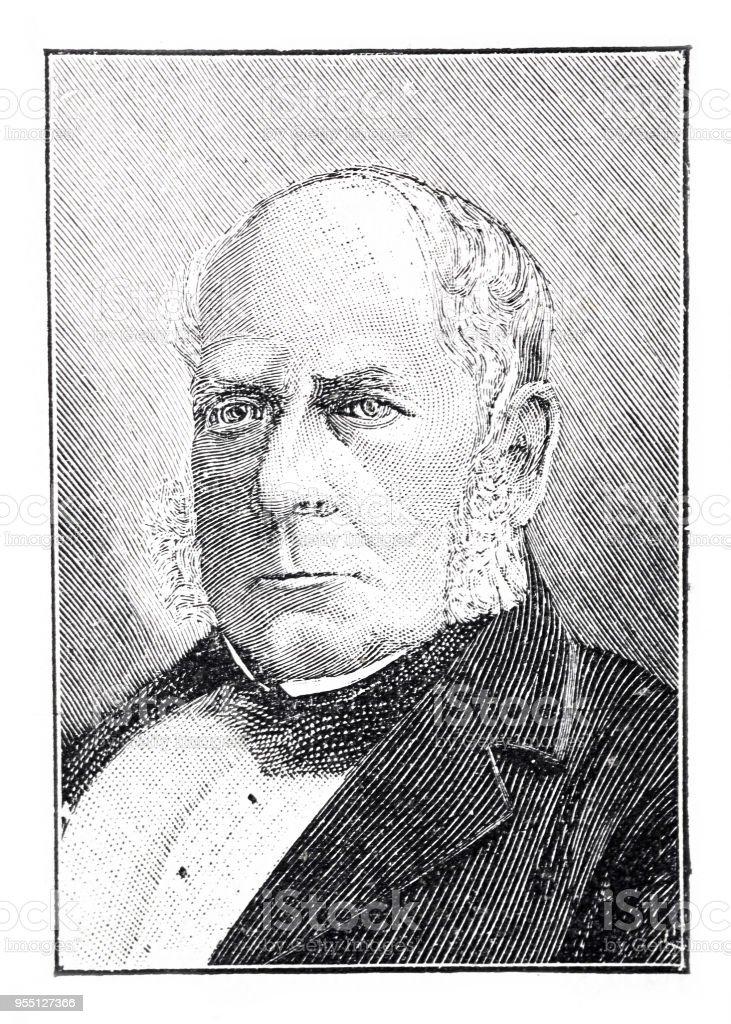 Portrait Of Henry Bessemer British Inventor 18131898 Stock