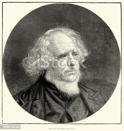 istock Portrait of Henry Cole inventor of the Christmas Card 469416108