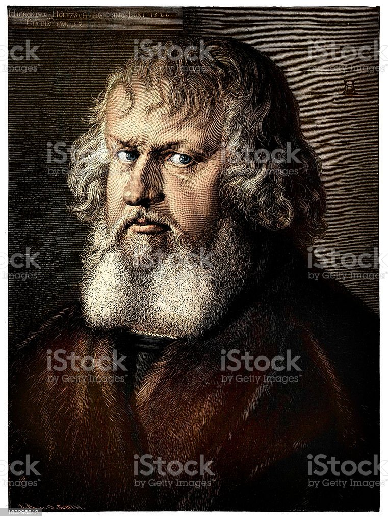 Portrait of Hieronymus Holzschuher vector art illustration