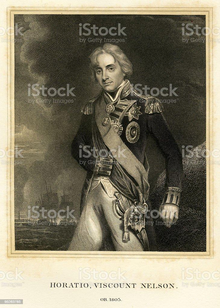 Portrait of Horatio Nelson royalty-free stock vector art
