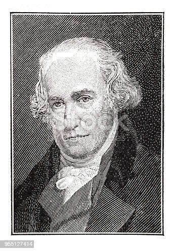 istock Portrait of James Watt , scotish inventor, 1736-1819 955127414