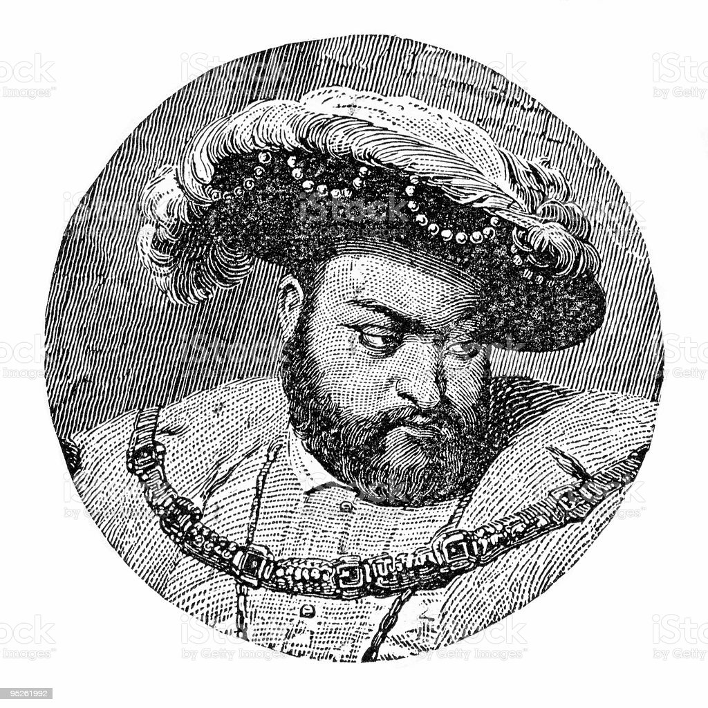Portrait of King Henry VIII royalty-free stock vector art