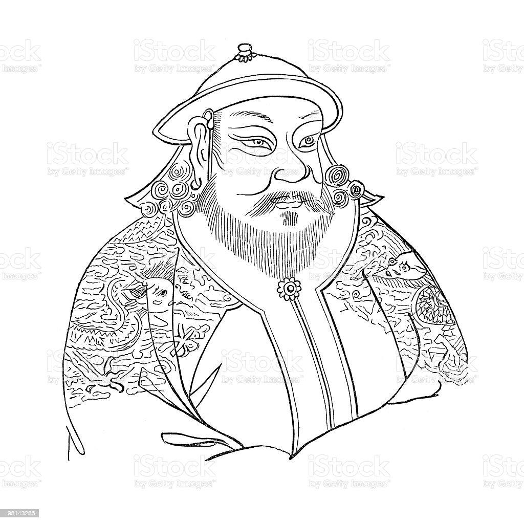 Portrait of Kublai Khan royalty-free portrait of kublai khan stock vector art & more images of antique