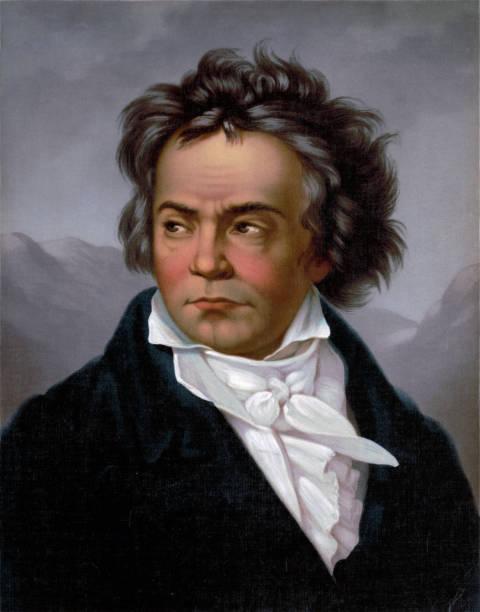Portrait of Ludwig Van Beethoven Vintage portrait of famous classical composer, Ludwig Van Beethoven. ludwig van beethoven stock illustrations