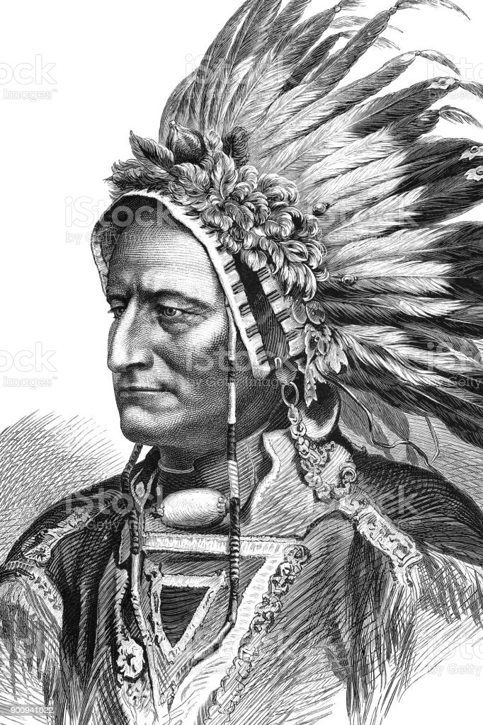 Portrait Of Native American Tribal Chief Sitting Bull 1875