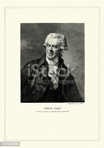 istock Portrait of Pasquale Paoli 524005890