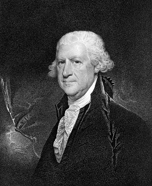 portrait of pennsylvania chief justice edward shippen - old man photo pictures stock illustrations, clip art, cartoons, & icons