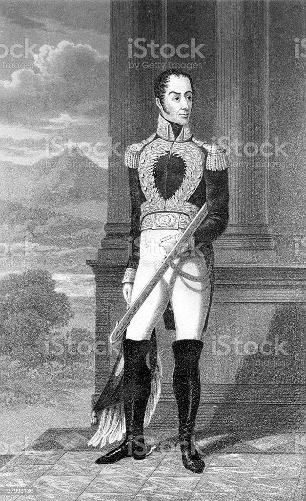 Portrait of Simon Bolivar royalty free portrait of simon bolivar stockvectorkunst en meer beelden van 19e-eeuwse stijl