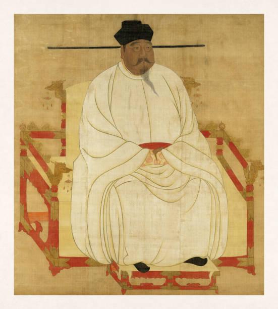 Portrait of Song Taizu vector art illustration